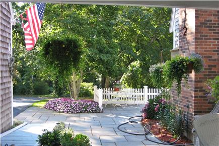 Orleans Cape Cod vacation rental - Enter from the sunny bluestone patio to the shaded breezeway.