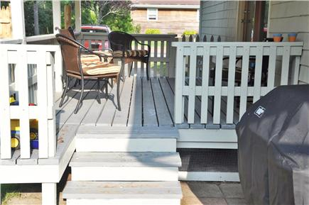 Hyannis Cape Cod vacation rental - Back deck w/ Weber Gas Grill