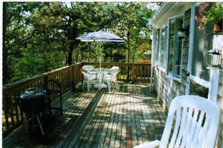 """South Wellfleet Cape Cod vacation rental - Upper """"sunset"""" deck."""
