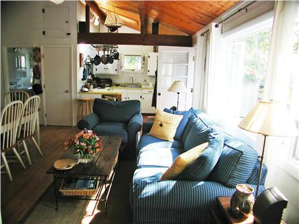 South Wellfleet Cape Cod vacation rental - Open living room/kitchen area.