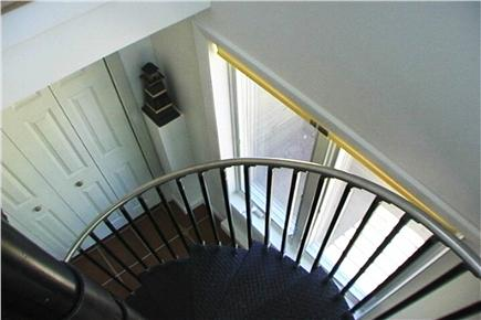 South Wellfleet Cape Cod vacation rental - Spiral stairs to lower floor.