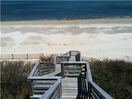 East Sandwich Cape Cod vacation rental - View of the property's own beach from the deck.