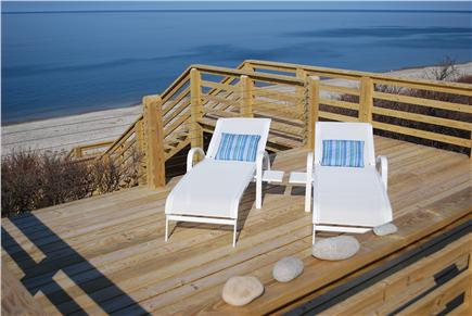 East Sandwich Cape Cod vacation rental - Intimate sundeck with lounge chairs to sun, read and relax.