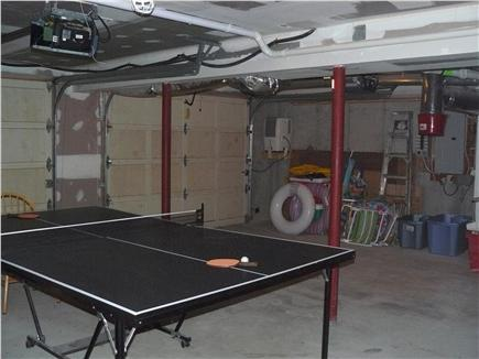 East Orleans Cape Cod vacation rental - Garage with ping-pong, beach gear, toys and games
