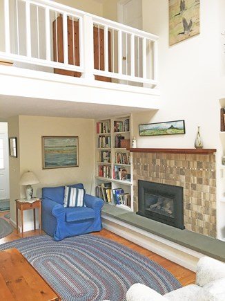 East Orleans Cape Cod vacation rental - Balcony over living room (leading to second-floor bedrooms)