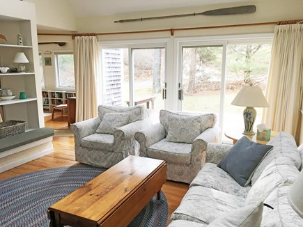 East Orleans Cape Cod vacation rental - Living room (sun room entry in left background)