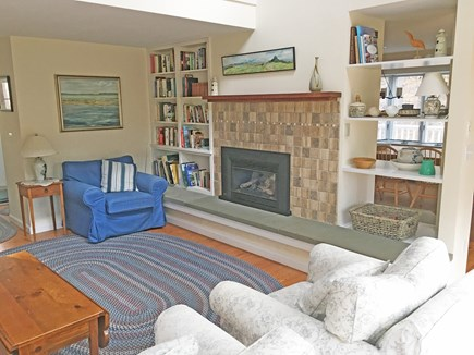 East Orleans Cape Cod vacation rental - Living room from sliding doors to deck
