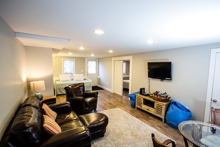 Chatham  Cape Cod vacation rental - Lower level Living Room/Bedroom/Bath with extra sleeping area.