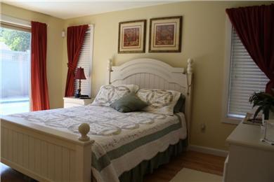 New Seabury, Mashpee New Seabury vacation rental - Master bedroom w/ private, full bath and sliders to pool.