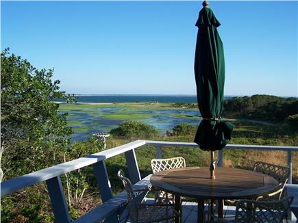 Lieutenant Island, Wellfleet Cape Cod vacation rental - View from the lower deck at high tide