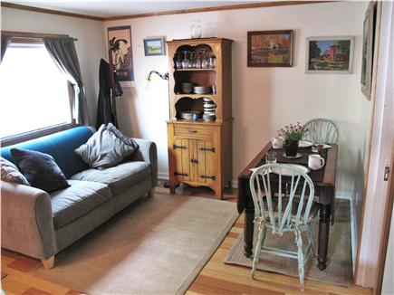 Provincetown Cape Cod vacation rental - Living Room and Dining Area...Dining Table Opens to Seat 4