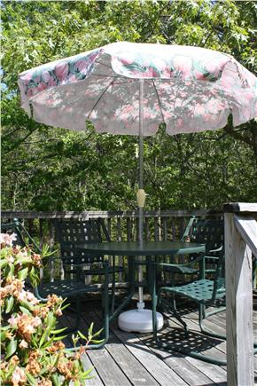 Eastham Cape Cod vacation rental - Backyard deck is a sweet spot for outdoor dining