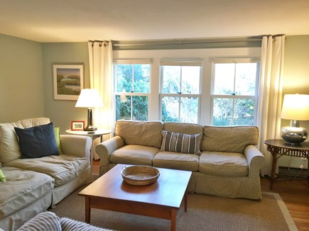 Eastham Cape Cod vacation rental - Lovely living room open to dining and kitchen.