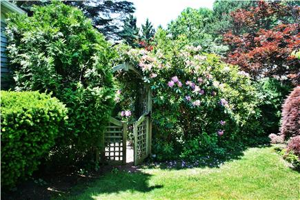 Yarmouth Port Cape Cod vacation rental - Gate side to Tiki Hut area