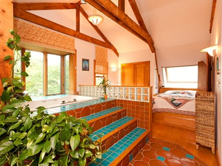 North Truro Cape Cod vacation rental - Loft bedroom with Queen sized bed.