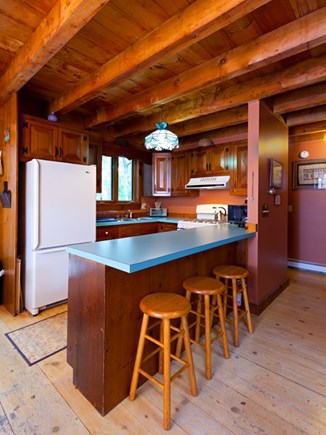 North Truro Cape Cod vacation rental - Equipped kitchen/ cooking area.