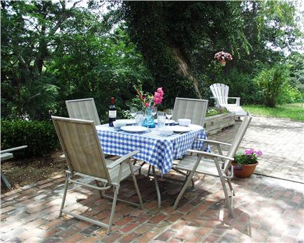 Eastham Cape Cod vacation rental - Patio overlooking marsh
