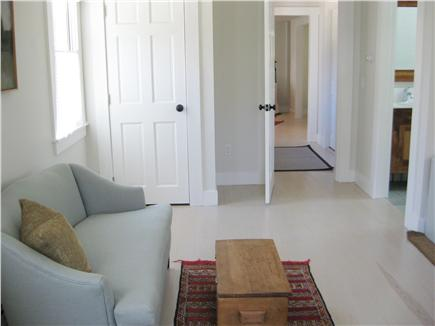 Truro Cape Cod vacation rental - Master Queen sitting area 1st floor with private full bath