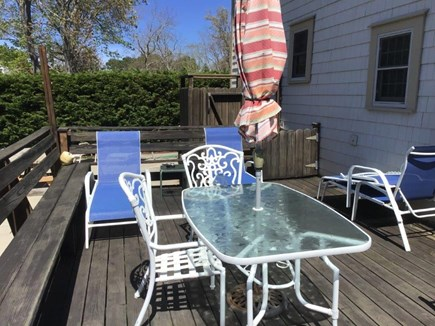Dennisport Cape Cod vacation rental - Relax and enjoy dining on deck