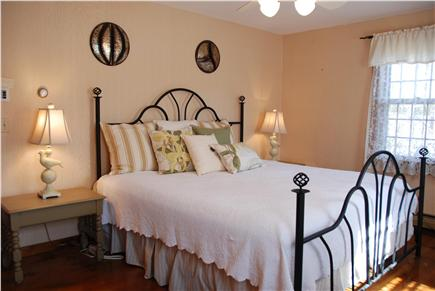 Dennisport Cape Cod vacation rental - Retreat to the plush king in the spacious master bedroom with TV.