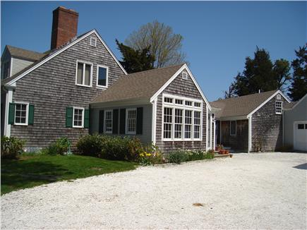 East Orleans Cape Cod vacation rental - View from side driveway w/entrance to separate cottage on right