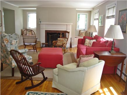 East Orleans Cape Cod vacation rental - Cozy Livingroom With Fireplace