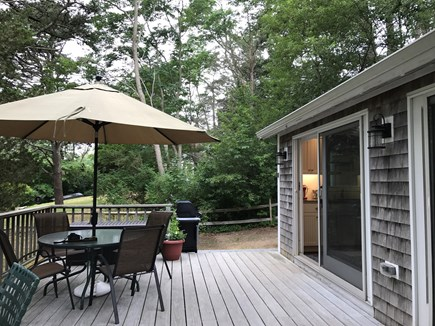Orleans Cape Cod vacation rental - Eat, read and relax on the large deck.