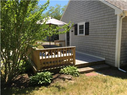 South Chatham - Forest Beach Cape Cod vacation rental - Deck view from rear of house.