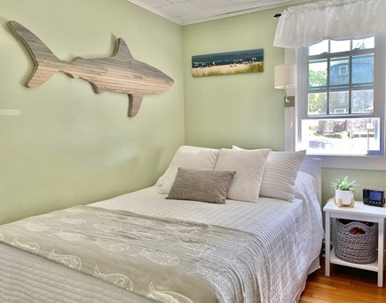 South Chatham - Forest Beach Cape Cod vacation rental - The second bedroom has a full bed and bunk bed with a TV with DVR