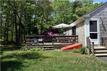 Harwich Cape Cod vacation rental - Backyard and deck