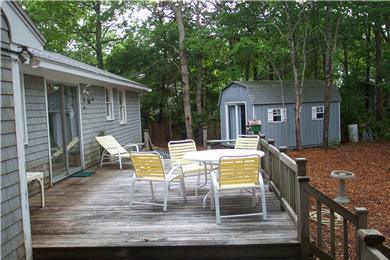 East Falmouth, Great Harbors Cape Cod vacation rental - Deck and cabin