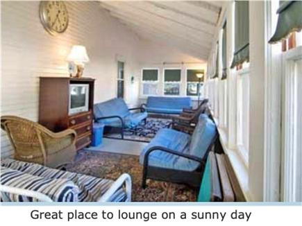 West Harwich Cape Cod vacation rental - Closed in porch is a great place to lounge on a sunny day