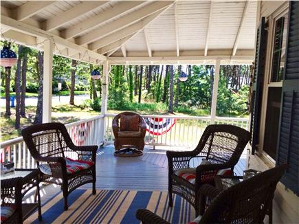 West Harwich Cape Cod vacation rental - Unwind and enjoy morning coffee on sprawling open air porch!