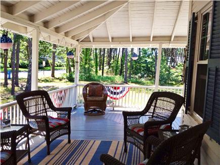 West Harwich Cape Cod vacation rental - Unwind and enjoy morning coffee on sprawling open air porch!
