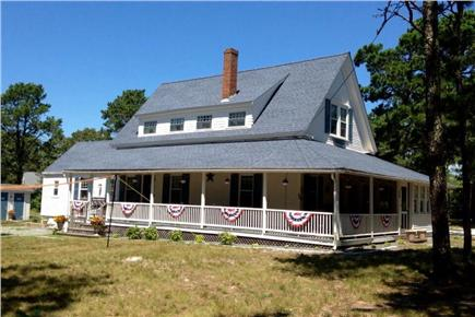 West Harwich Cape Cod vacation rental - Exterior picture of home with beautiful porch