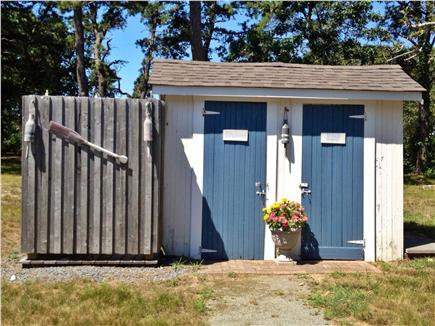 West Harwich Cape Cod vacation rental - Wonderful Bath House with Dressing area in outdoor shower