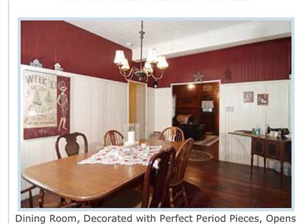 West Harwich Cape Cod vacation rental - Dining Room, Decorated with Perfect Period Pieces, Opens to LR