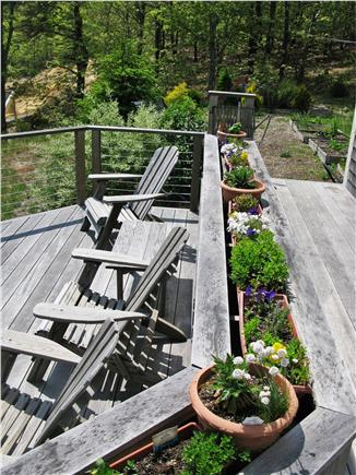 Wellfleet Cape Cod vacation rental - Outside deck with step down sitting area