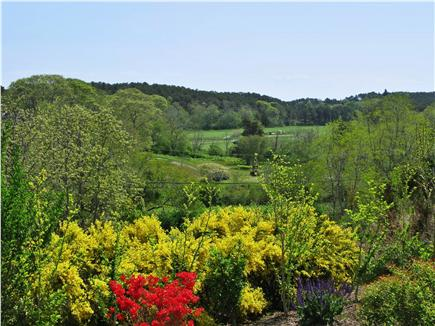 Wellfleet Cape Cod vacation rental - View of the golf course and a peek at the bay