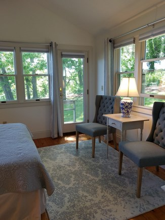 Orleans Cape Cod vacation rental - Master bedroom with water views in the Guest House