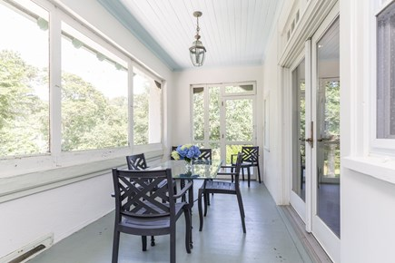 Orleans Cape Cod vacation rental - Screened porch off kitchen - fun for meals or a 2nd cup of coffee