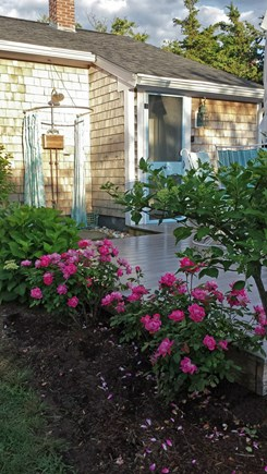 Barnstable Cape Cod vacation rental - Beautiful gardens, private backyard with deck and outdoor shower