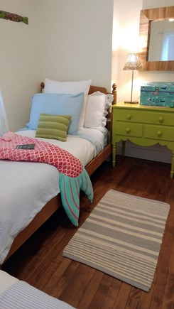Barnstable Cape Cod vacation rental - Bright & cheery 2 twin beds. Books, games & pirates treasure box