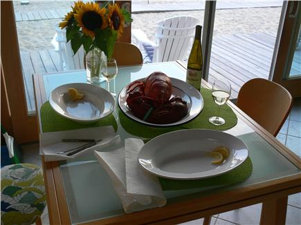 Truro Cape Cod vacation rental - Enjoy a lobster dinner!