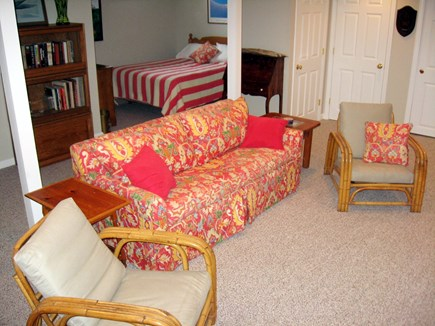 West Chatham Cape Cod vacation rental - Downstairs Living Area with television