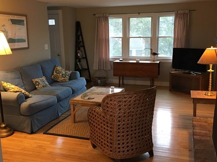 West Chatham Cape Cod vacation rental - Living Room with fireplace and television