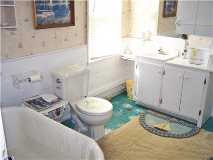 West Dennis Cape Cod vacation rental - 1st floor bath, clawfoot tub