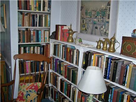 West Dennis Cape Cod vacation rental - Books in TV room
