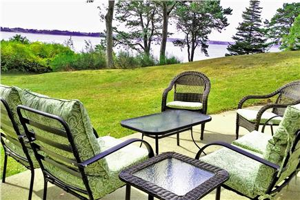 Orleans Cape Cod vacation rental - Fall view from the lawn sowing beautiful Pleasant Bay