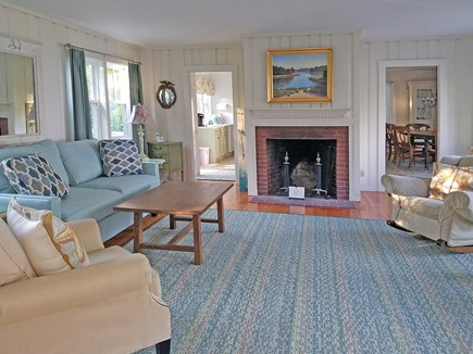 Orleans Cape Cod vacation rental - Living room features gorgeous views out to the Bay